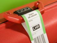 Resväska med bagagetagg